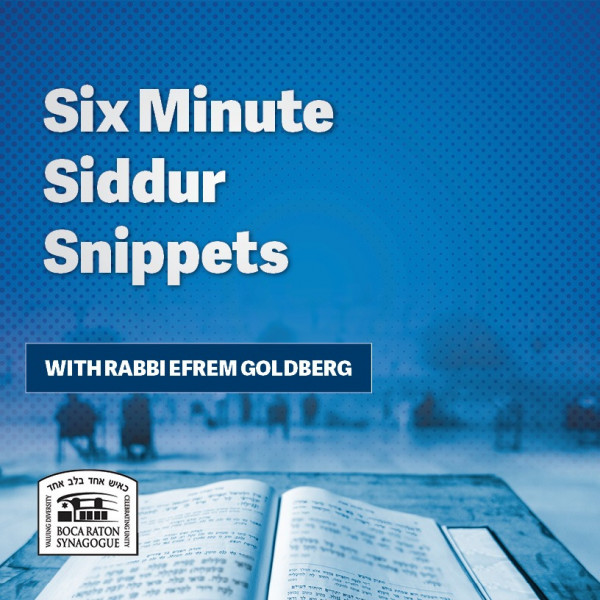 6 Minute Siddur Snippets